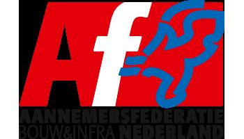 Het logo van Aannemersfederatie Bouw & Infra Nederland