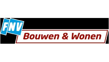 Het logo van FNV Bouwen en Wonen
