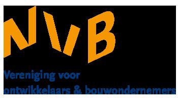 Het logo van NVB BOUW vereniging voor ontwikkelaars & bouwondernemers